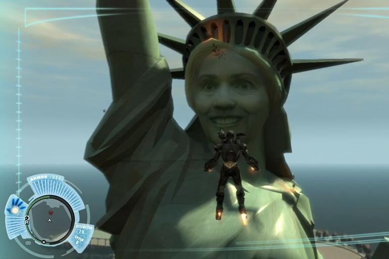 Статуя Хилари Клинтон